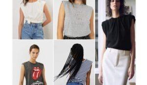 Camisetas con hombreras - Moda para mujeres